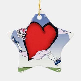 Washington DC head heart, tony fernandes Ceramic Star Ornament