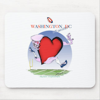 Washington DC head heart, tony fernandes Mouse Pad