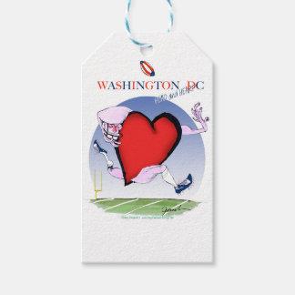 Washington DC head heart, tony fernandes Pack Of Gift Tags