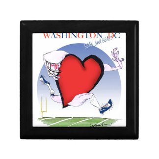 Washington DC head heart, tony fernandes Trinket Boxes