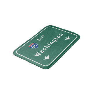 Washington dc Interstate Highway Freeway Road : Bath Mat