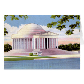 Washington DC Jefferson Memorial Card