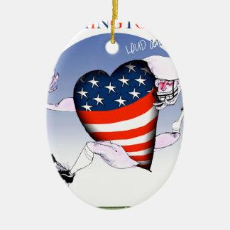 Washington DC loud and proud, tony fernandes Ceramic Oval Ornament
