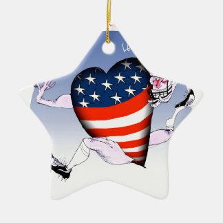Washington DC loud and proud, tony fernandes Ceramic Star Ornament