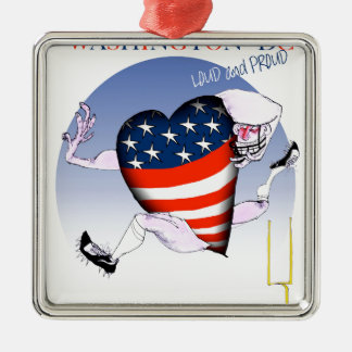 Washington DC loud and proud, tony fernandes Silver-Colored Square Ornament