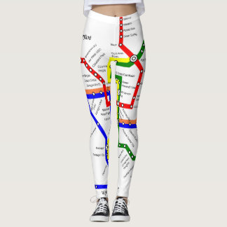 Washington DC Metro Subway Map Legging