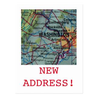 Washington DC New Address announcement Postcard