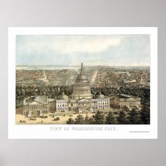 Washington, DC Panoramic Map - 1857 Poster