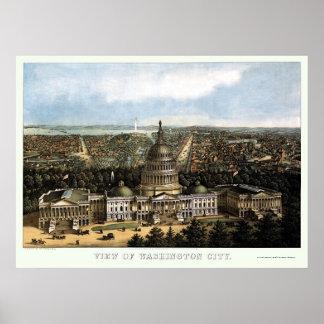 Washington, DC Panoramic Map - 1871 Poster