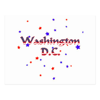 Washington DC Patriotic Stars Postcard