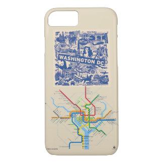 Washington DC Phone Case with Metro Map