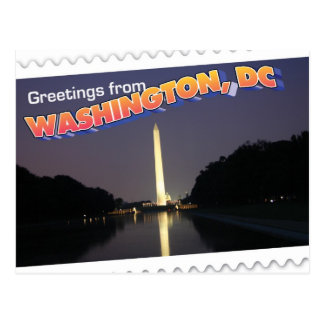 Washington, DC postcard Washington Monument