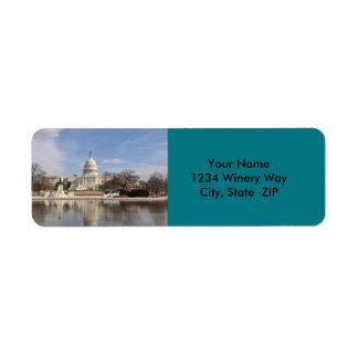 Washington DC Return Address Label