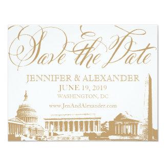 Washington DC save the date - Vintage Monuments 3 Card