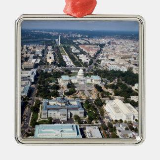 WASHINGTON DC Silver-Colored SQUARE ORNAMENT