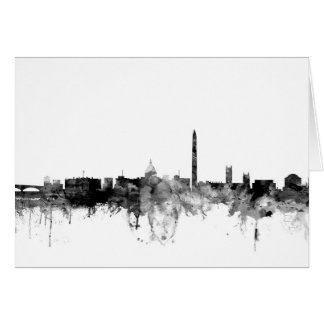 Washington DC Skyline Card