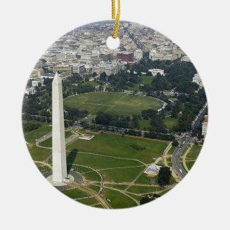 Washington DC Skyline Ceramic Ornament