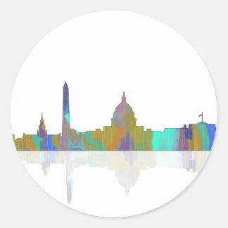 Washington, DC Skyline Classic Round Sticker