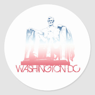 Washington DC Skyline Design Classic Round Sticker