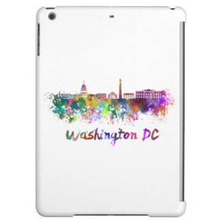 Washington DC skyline in watercolor Cover For iPad Air