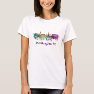 Washington DC skyline in watercolor T-Shirt
