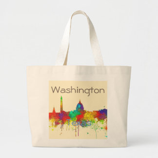 Washington DC Skyline SG Large Tote Bag