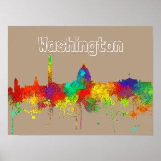 WASHINGTON, DC SKYLINE - SG - POSTER