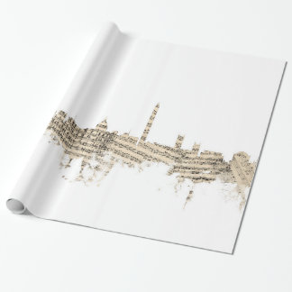 Washington DC Skyline Sheet Music Cityscape Wrapping Paper