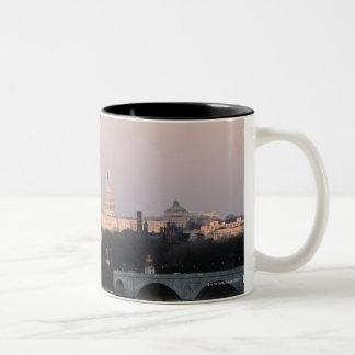 Washington, DC Skyline Two-Tone Coffee Mug