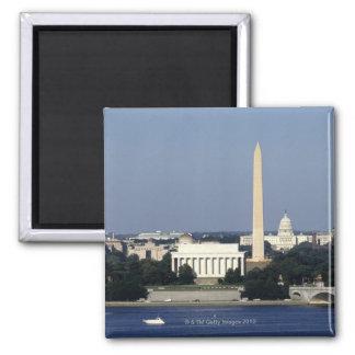 Washington DC Skyline with US Capitol Building 2 Magnet