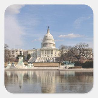 Washington DC Square Sticker