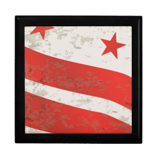 Washington DC State Flag Keepsake Box