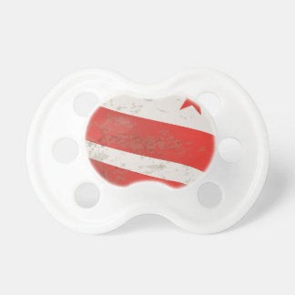 Washington DC State Flag Pacifier
