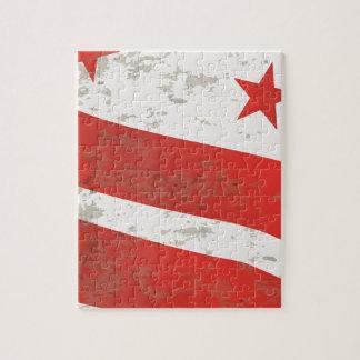 Washington DC State Flag Puzzle