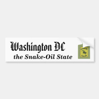 Washington DC, the Snake-Oil State Bumper Sticker