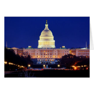 Washington DC United States Capitol at Dusk Card