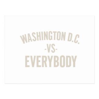 Washington DC Vs Everybody Postcard