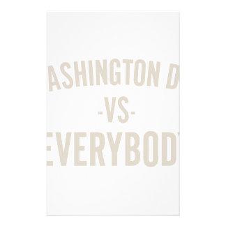 Washington DC Vs Everybody Stationery