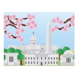 Washington DC with Cherry Blossoms Postcard