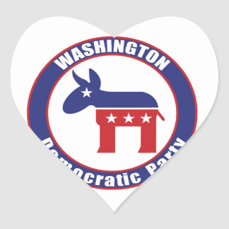 Washington Democratic Party Heart Sticker
