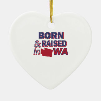 Washington design ceramic ornament