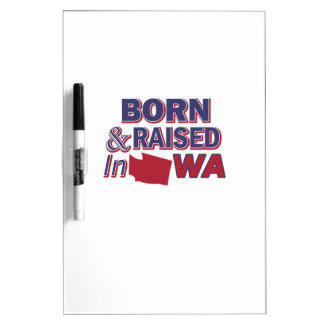 Washington design dry erase board