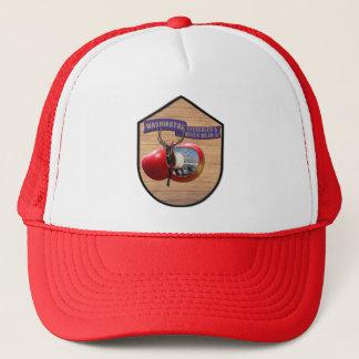 Washington - Elk/Apple Evergreen & Never Mean Trucker Hat