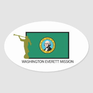WASHINGTON EVERETT MISSION LDS CTR OVAL STICKER