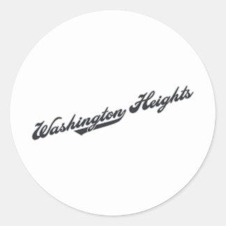 Washington Heights Round Sticker