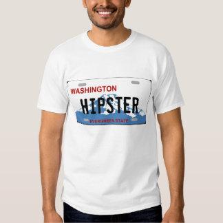 Washington hipster license plate Tshirt