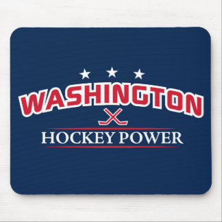 Washington Hockey Power Blue Mouse Pad