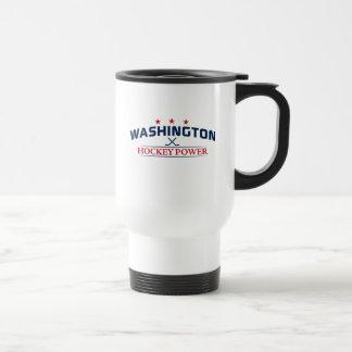 Washington Hockey Power White Travel Mug