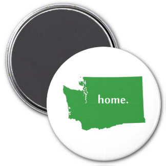Washington home silhouette state map magnet