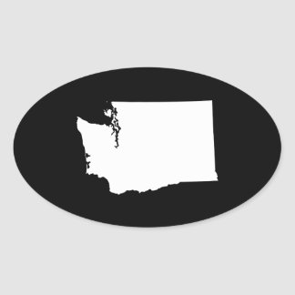 Washington in White and Black Oval Sticker